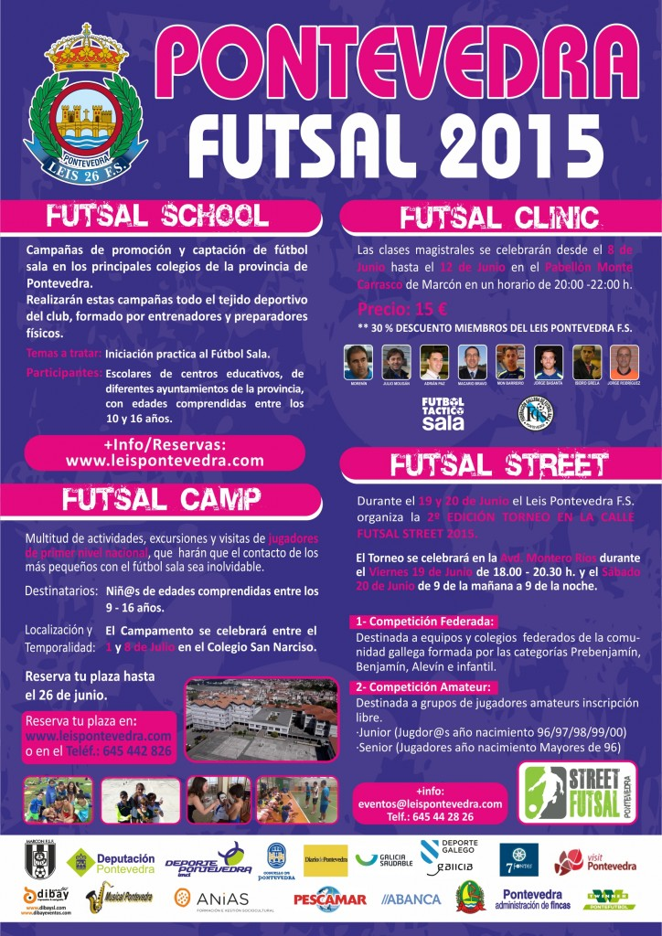 CARTEL PONTEVEDRA FUTSAL 2015