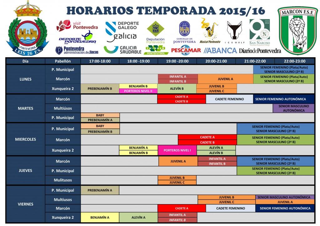 Horarios T. 2015-16