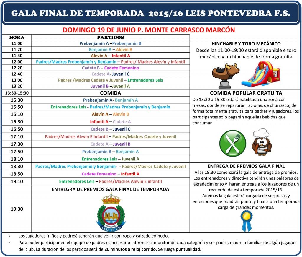 GALA FINAL DE TEMPORADA